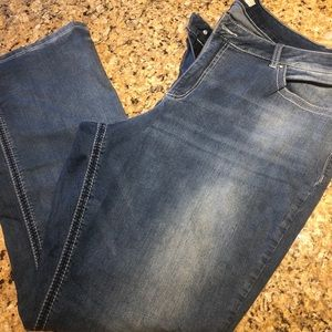 Cato's 22 size jeans, bootcut